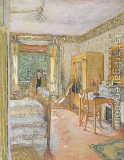 Sunlit Interior by Edouard  (Jean-Edouard) Vuillard - Reproduction Oil Painting
