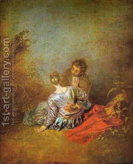 Le Faux Pas by Jean-Antoine Watteau - Reproduction Oil Painting