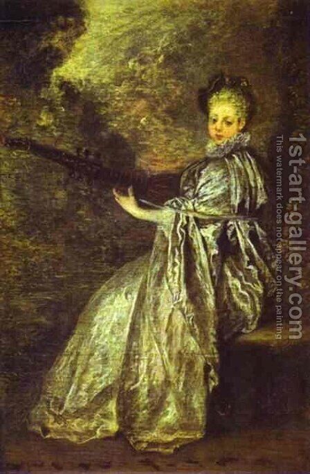 La Finette by Jean-Antoine Watteau - Reproduction Oil Painting