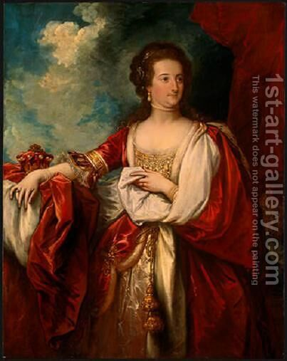 Elizabeth, Countess of Effingham by Benjamin West - Reproduction Oil Painting