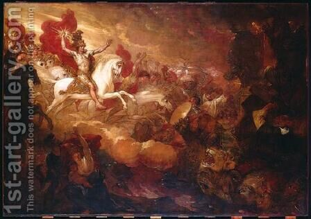 Destruction of the Beast and the False Prophet by Benjamin West - Reproduction Oil Painting