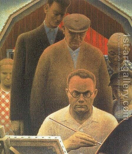 Return from Bohemia by Grant Wood - Reproduction Oil Painting