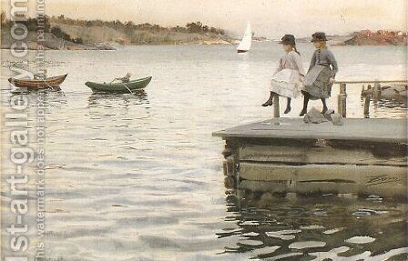 Boat Race by Anders Zorn - Reproduction Oil Painting
