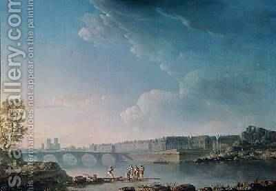The Ile SaintLouis and the Pont de la Tournelle 1780 by (after) Noel, Alexandre Jean - Reproduction Oil Painting