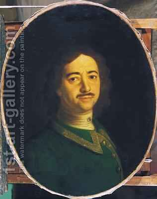 Portrait of Peter the Great 1672-1725 by Ivan Nikitich Nikitin - Reproduction Oil Painting