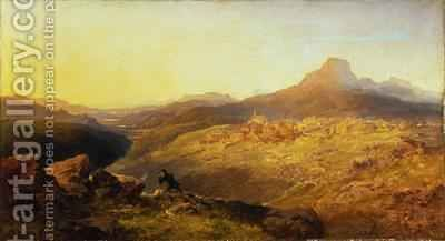 Town and Vale of Ffestiniog 1864 by Edmund John Niemann, Snr. - Reproduction Oil Painting