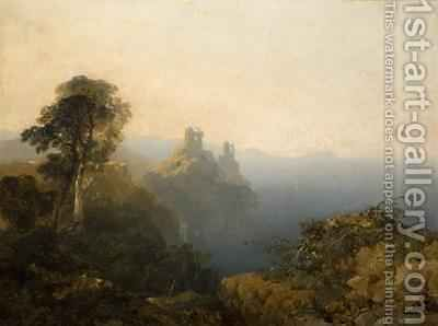 Black Castle Wicklow 1854 by Edmund John Niemann, Snr. - Reproduction Oil Painting