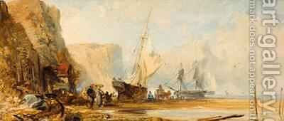 On the East Coast by Edmund John Niemann, Snr. - Reproduction Oil Painting