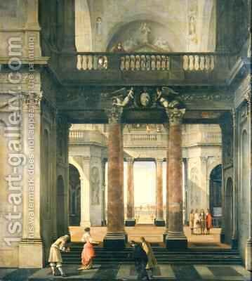 Hall of a Palace by Isaak Nickelen - Reproduction Oil Painting