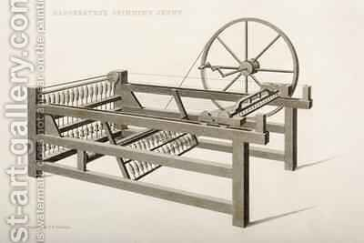 The Spinning Jenny invented by James Hargreaves in 1764 1835 by (after) Nicholson, Thomas Henry - Reproduction Oil Painting