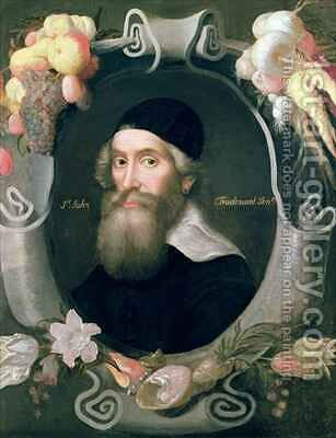 John Tradescant the Elder 1570-1638 by Cornelius de Neve - Reproduction Oil Painting