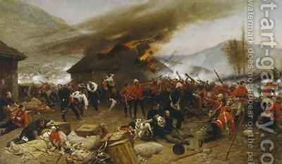 The Defence of Rorkes Drift 1880 by Alphonse Marie de Neuville - Reproduction Oil Painting