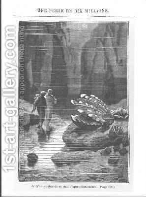 Illustration from 20000 Leagues Under the Sea 2 by Alphonse Marie de Neuville - Reproduction Oil Painting
