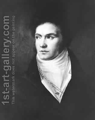 The young Ludwig van Beethoven 1770-1827 1806 by Isidor Neugass - Reproduction Oil Painting