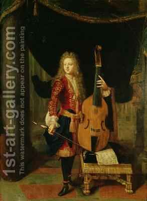Portrait of Johann Schenck 1660-1712 by Constantin Netscher - Reproduction Oil Painting