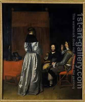 The Visit 1655 by Caspar Netscher - Reproduction Oil Painting