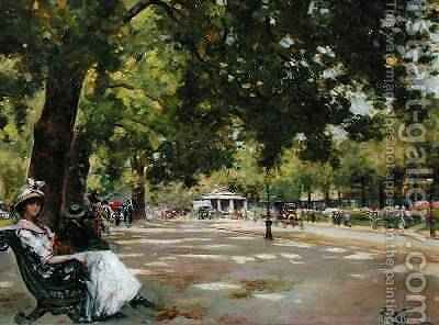 Hyde Park London 2 by Count Girolamo Pieri Nerli - Reproduction Oil Painting