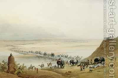 Released Garrison of Lucknow Crossing the Ganges by J. Needham - Reproduction Oil Painting