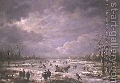 Winter Landscape 3 by Aert van der Neer - Reproduction Oil Painting
