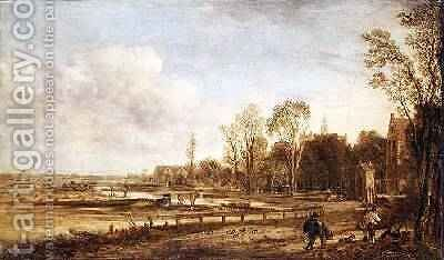 Landscape near Haarlem by Aert van der Neer - Reproduction Oil Painting