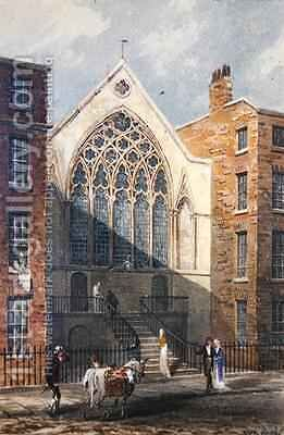 View of Ely Chapel 1815 by J. P. Neale - Reproduction Oil Painting