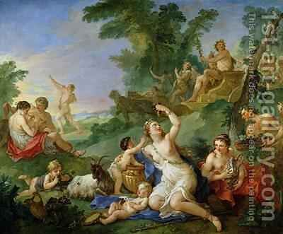 The Triumph of Bacchus by Charles Joseph Natoire - Reproduction Oil Painting
