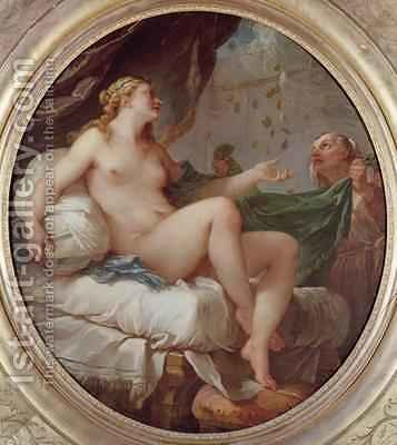 Danae Receiving the Shower of Gold 1735 by Charles Joseph Natoire - Reproduction Oil Painting