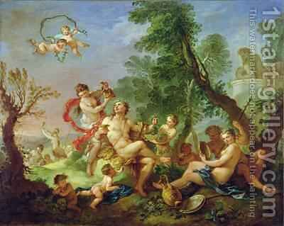 Bacchanal 1747 by Charles Joseph Natoire - Reproduction Oil Painting