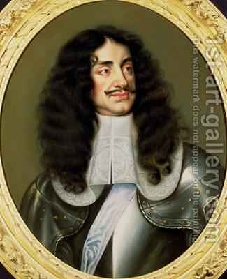 Portrait of Charles II 1630-85 by (circle of) Nason, Pieter - Reproduction Oil Painting