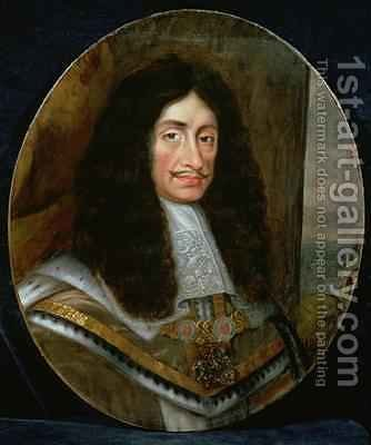 Portrait of King Charles II 1630-85 by (circle of) Nason, Pieter - Reproduction Oil Painting