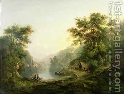 The Fishing Party Loch Katrine Scotland by Alexander Nasmyth - Reproduction Oil Painting