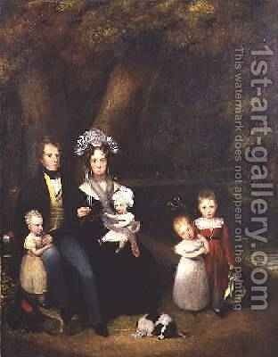 Family Group or Conversation Piece 1840 by Alexander Nasmyth - Reproduction Oil Painting