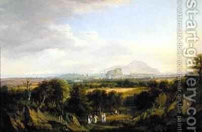 A View of Edinburgh from the West 1822-26 by Alexander Nasmyth - Reproduction Oil Painting