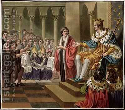 Louis XII 1462-1515 Declared Father of the People by (after) Naigeon, Jean Claude - Reproduction Oil Painting