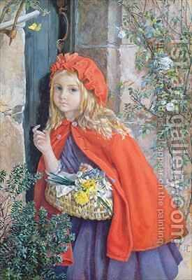 Little Red Riding Hood 1862 by Isabel Oakley Naftel - Reproduction Oil Painting