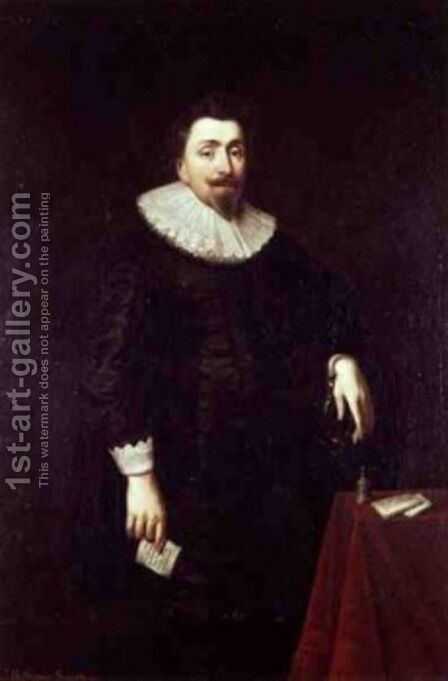 Portrait of Lord Baltimore by Daniel Mytens - Reproduction Oil Painting