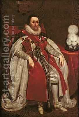 King James I of England and VI of Scotland 1621 by Daniel Mytens - Reproduction Oil Painting