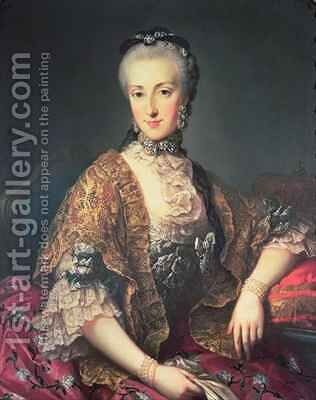 Archduchess Maria Anna Habsburg-Lothringen called Marianne 1738-89 by Martin II Mytens or Meytens - Reproduction Oil Painting