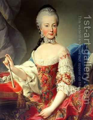 Archduchess Maria Amalia Habsburg-Lothringen by Martin II Mytens or Meytens - Reproduction Oil Painting
