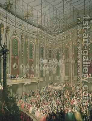 Concert in the Redoutensaal on the occasion of the wedding of Joseph II and Isabella of Parma 6th October 1760 by Martin II Mytens or Meytens - Reproduction Oil Painting
