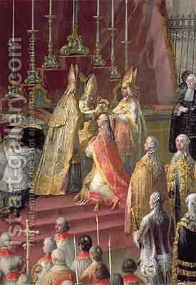 The Coronation of Joseph II 1741-90 as Emperor of Germany in Frankfurt Cathedral 1764 by Martin II Mytens or Meytens - Reproduction Oil Painting