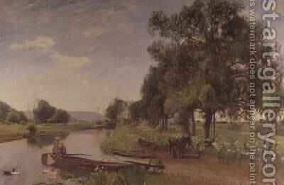 River and Rail 1896 by David Murray - Reproduction Oil Painting