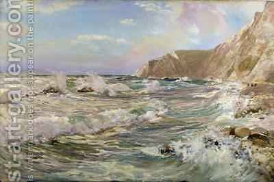 St Oswalds Bay Lulworth by David Murray - Reproduction Oil Painting