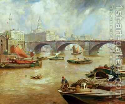 London Bridge from Bankside by David Murray - Reproduction Oil Painting