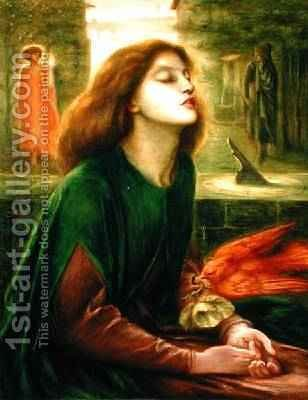 Copy of Beata Beatrix by Dante Gabriel Rossetti 1828-82 1900-10 by J. H. Gibbons - Reproduction Oil Painting