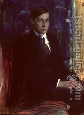 Portrait of Boris Pasternak 1890-1960 1917 by A. A. Murashko - Reproduction Oil Painting