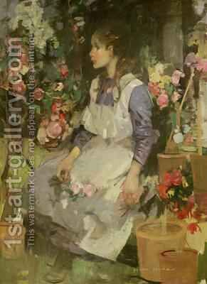 Young Gardener by Hugh Munro - Reproduction Oil Painting