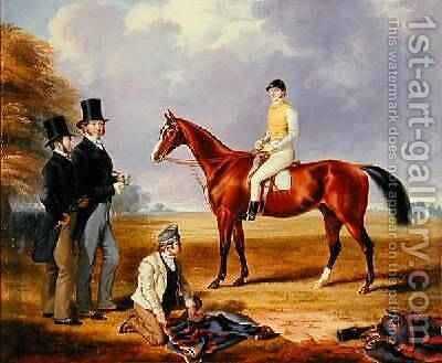 Dr Fothergill Rowlands of Nantyglo on Tom Llewelyn Brewers Horse Bold Navy 1847-51 by James Flewitt Mullock - Reproduction Oil Painting