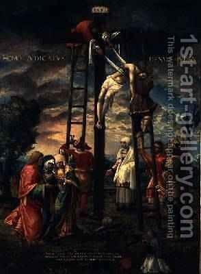 The Descent from the Cross by Hans Muelich or Mielich - Reproduction Oil Painting