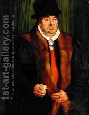 Portrait of a Munich Aristocrat 1559 by Hans Muelich or Mielich - Reproduction Oil Painting